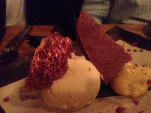 Aero chocolate dessert