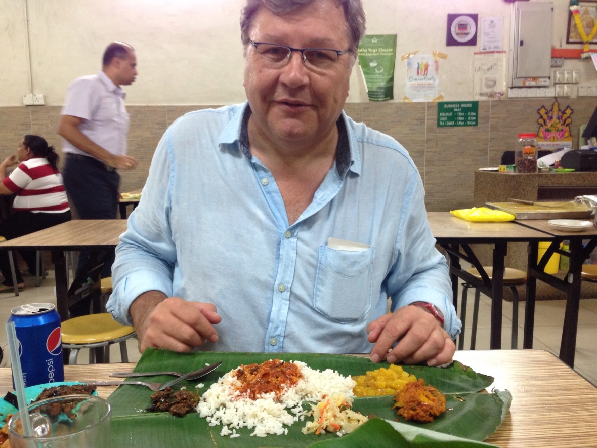 banana leaf curry in KL