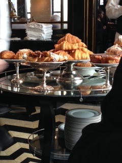 Pastries for breakfast in London