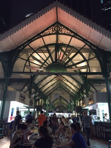 Beautiful colonial architecture of Lau Pa Sat hawker centre, originally a wet market