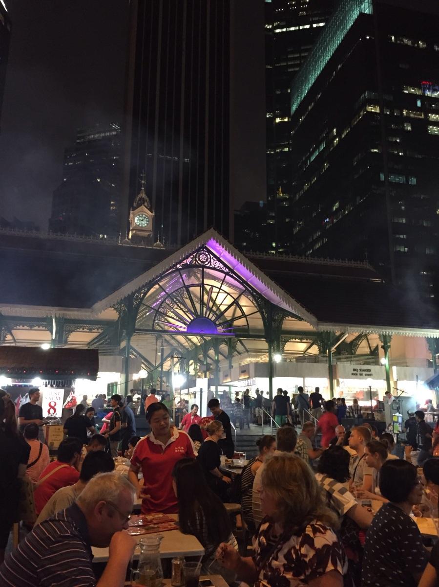 Lau Pa Sat - Satay Street of Singapore