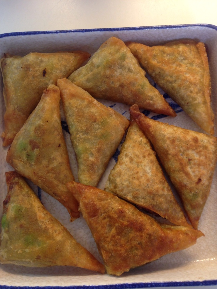 Durban-style mince and pea Samosas