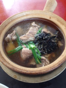 Bak Kut Teh - Singapore  Pork rib soup with garlic and herbs