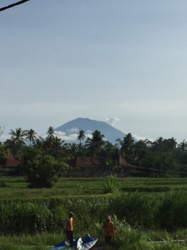Beautiful Mount Agung views across valley from Campuhan Ridge walk