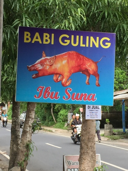 Babi Guling at Warung Ibu Suna in Kedawatan village near Ubud