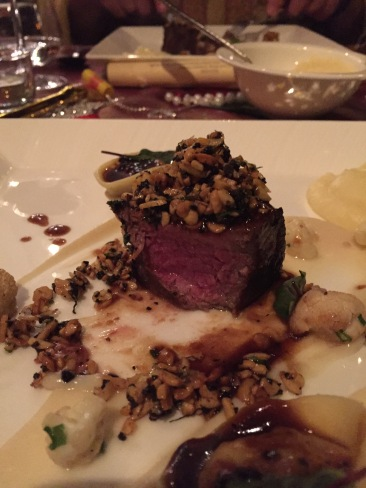 Stockyard Wagyu Beef, Fermented soy bean and Fresh Winter Black Truffle Crumble