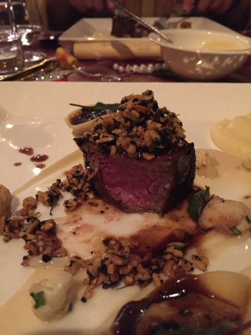 Stockyard Wagyu Beef, Fermented soy bean and Fresh Winter Black Truffle Crumble