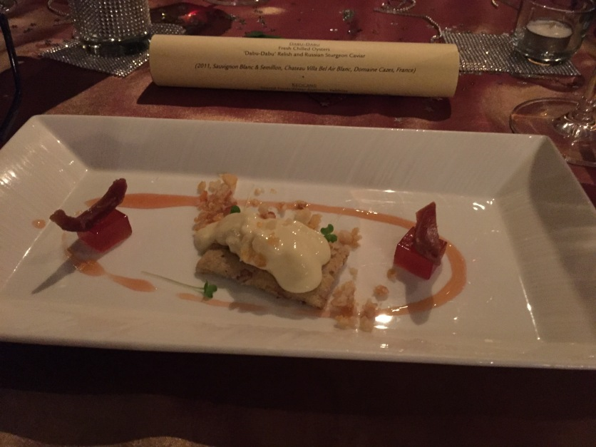 A.O.C. Vacherin Cheese with Fresh nutmeg Pericarp and reduction