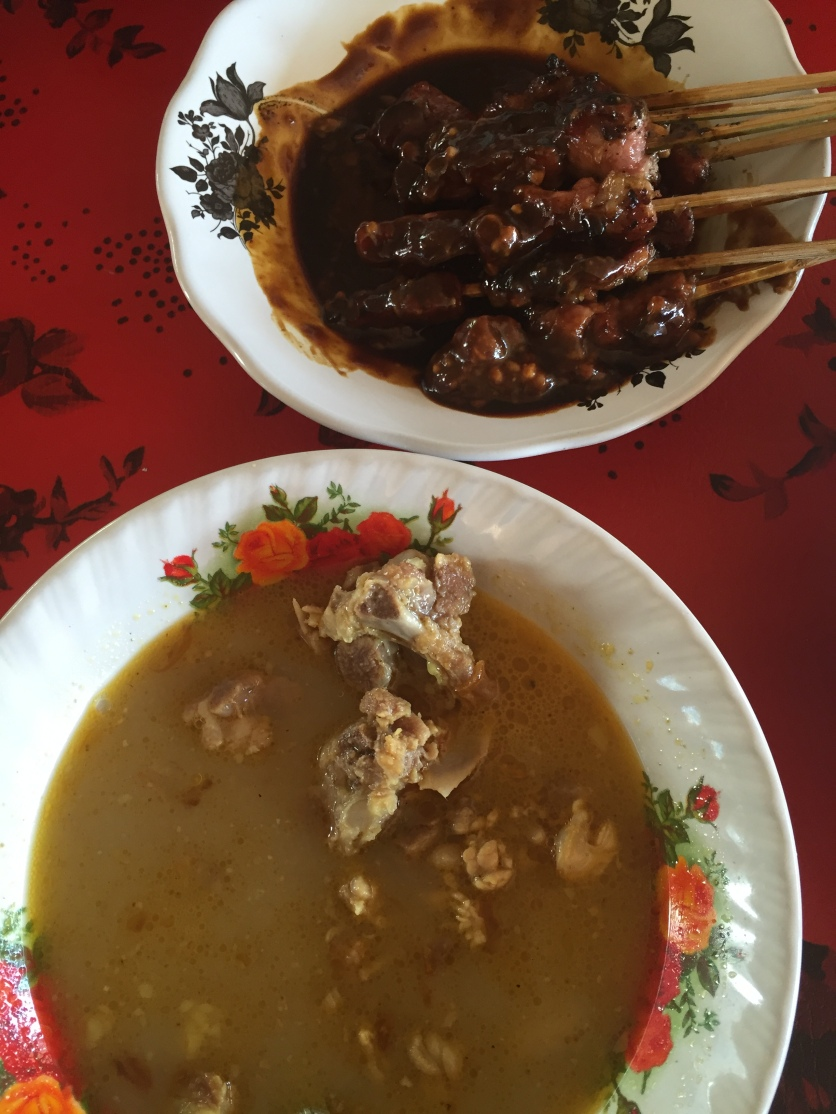 Satay Kambing(goat) with spicy soup