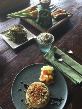 Authentic Balinese feast made in cooking class at Bali Asli, karangasem, East Bali