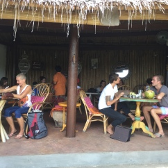 The breakfast yogi crowd at Yellow Flower Cafe, Penestanan, Ubud