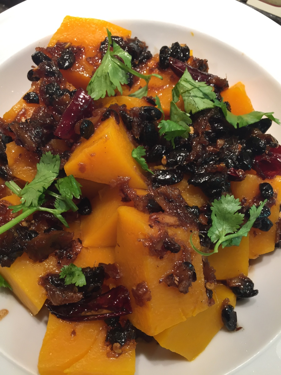 Steamed Pumpkin with salted black bean sauce