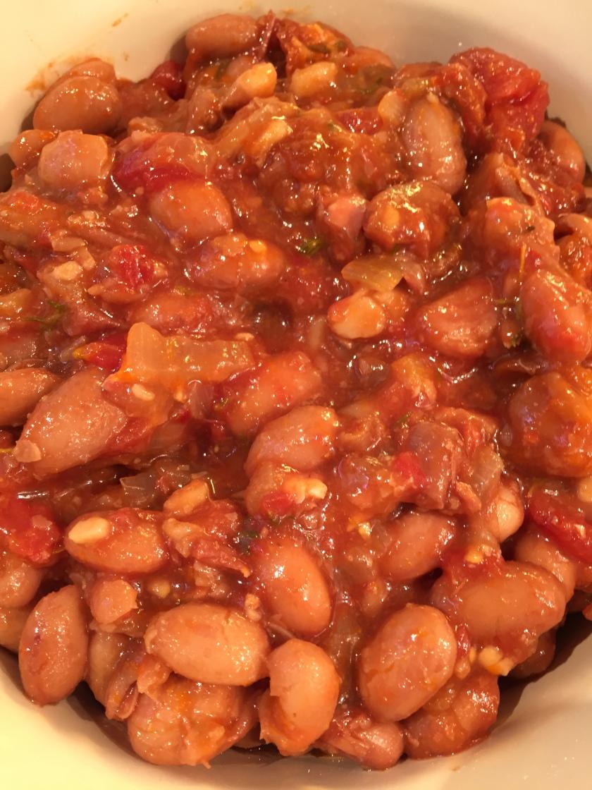 Homemade Borlotti baked beans