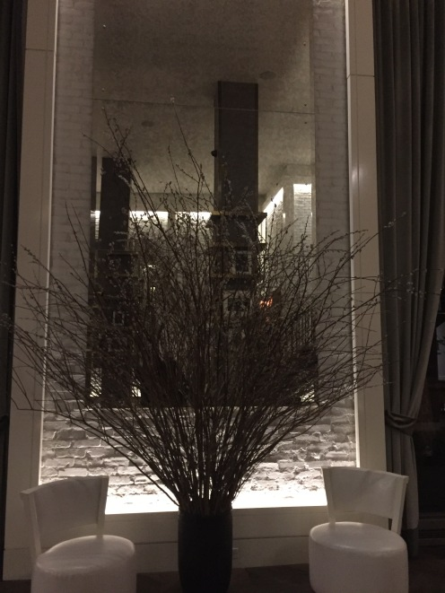 Warm, stylish and welcoming foyer at the Roger NYC