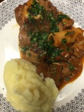Homestyle osso bucco with gremolata and creamy mashed potatoes