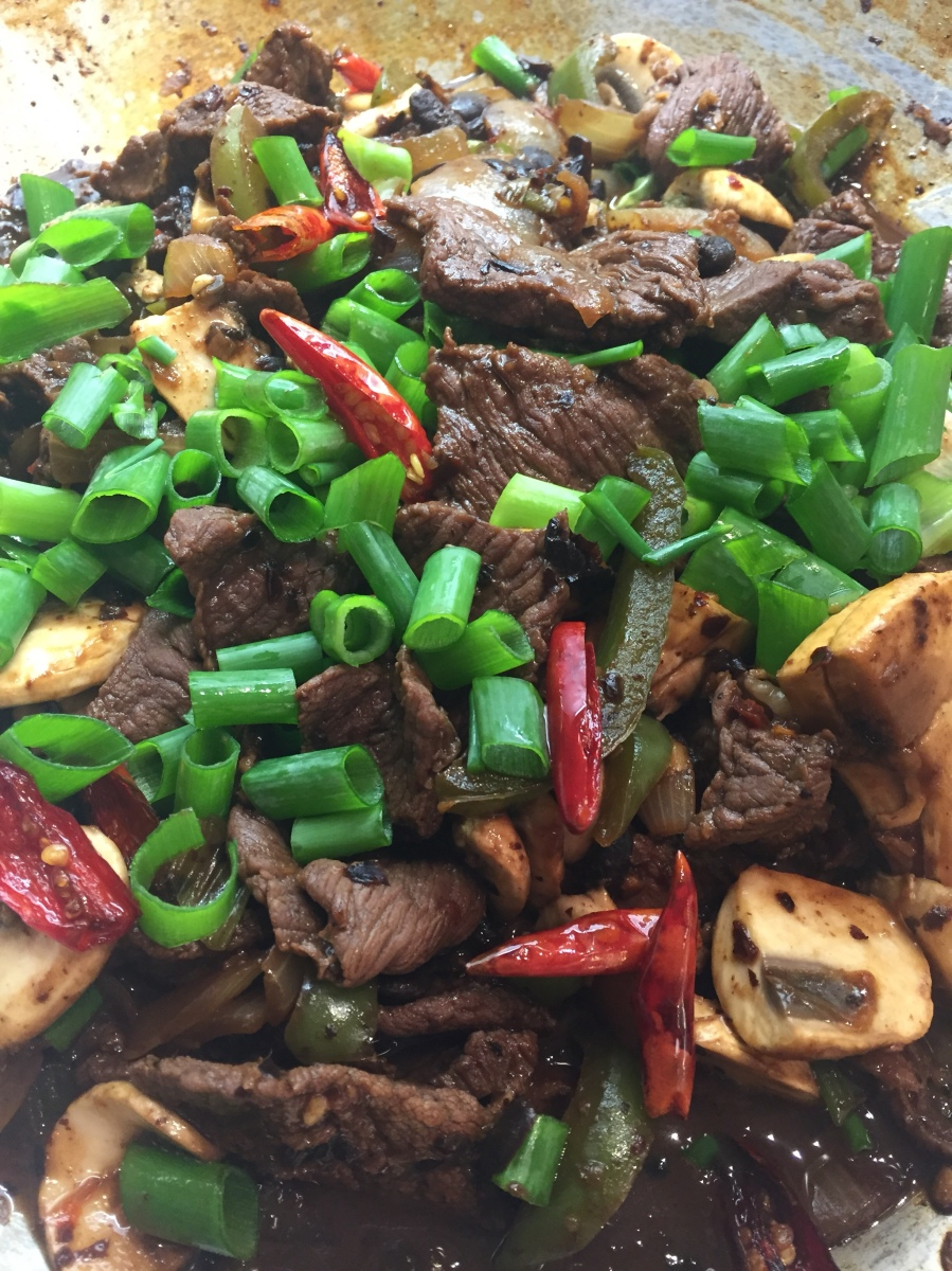 Beef and black bean with chilli