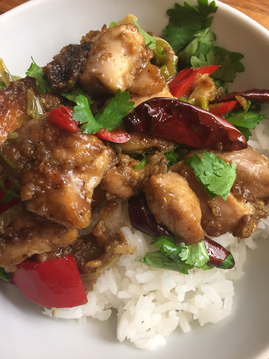 Twice cooked Szechuan Chicken