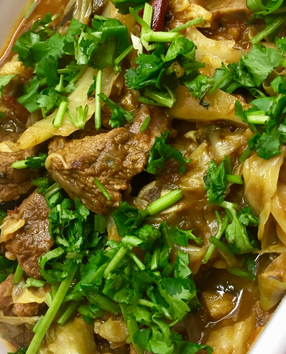 Durban-style Lamb and Cabbage Curry