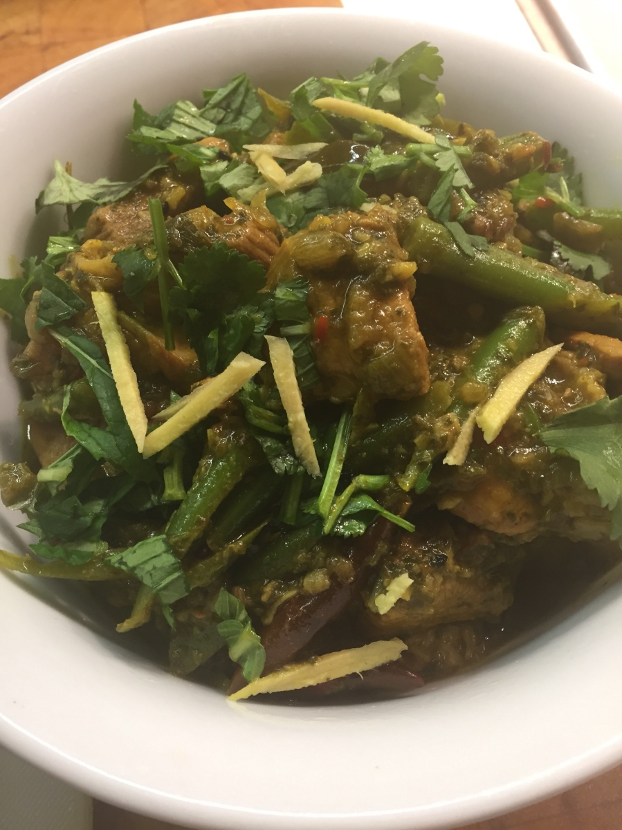 Indian Green Pork Curry with beans